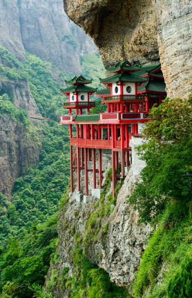 Chinese temple in mountainside, Fujian province, China © Xiangyang Zhang 2010 iStockphoto