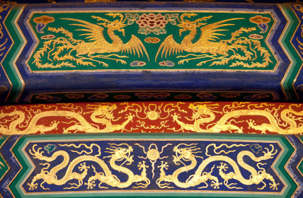 Chinese phoenix and dragon patterns at the Temple of Heaven, © Hou Yuxuan iStockphoto 2012