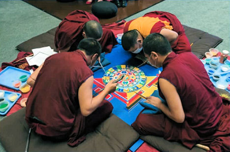 Impermanent Wonder: Creation of a Sand Mandala photograph � 2013 Paul Cotter