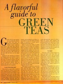 'A Flavorful Guide to Green Teas' by Cornelia Carlson, Ph.D.