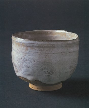 Rice-straw Ash Glaze Tea Bowl