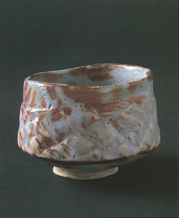 Gray Shino Tea Bowl