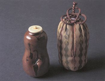 Seto Gourd-shaped Tea Caddy