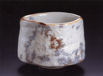 Painted Shino Tea Bowl