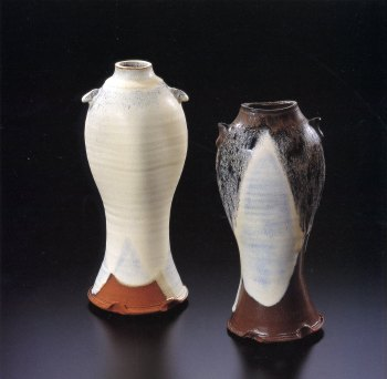 Concord Kiln, Flower Vase with ears<br />(2 vases)