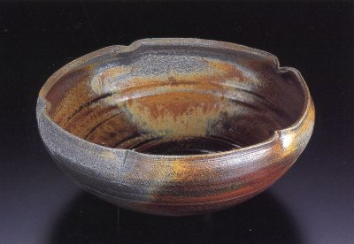 Johanna Kiln, Wood-fired Lobed-rim Serving Bowl