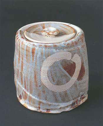 Shino Water Container with Circle Design