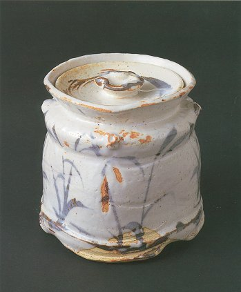 Painted Shino Water Container